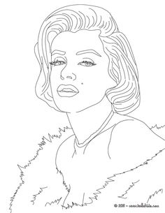 art famou page coloring book marylin monroe coloring page american celebrities coloring pages - Celebrity Coloring Pages