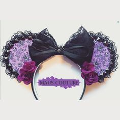 """Haunted Mansion"" Inspired Minnie Mouse Disney Ears Source Instagram by…"