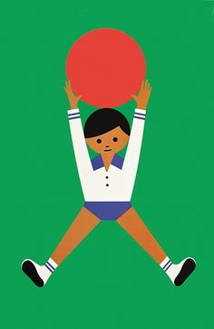"25"" x 38"" children's poster, design and image art by Fredun Shapur, United States, 1971, by Creative Playthings."