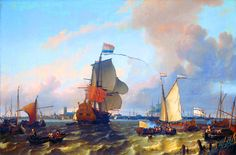William Duke of Orange boarding the warship Brill sailing for England, Glorious Revolution