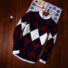 men outfits - Men's Winter Fashion Print Pullover Mens Fashion Sweaters, Sweater Fashion, Men Sweater, Fashion Fashion, Stylish Men, Men Casual, Dressy Sweaters, Le Polo, Well Dressed Men