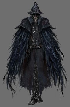 Bloodborne Concept Art - Raven Hunter
