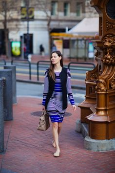 Loving striped office-wear Office Chic, Office Wear, Le Tote, Fashion Editor, Work Wear, Real Estate, How To Wear, Clothes, Outfits