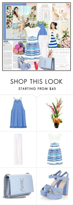 """""""HAPPY MOOD. MISS A'S SUZY. 08.08.2016"""" by goharkhanoyan ❤ liked on Polyvore featuring Tory Burch, Designs by Lauren, Diane Von Furstenberg, New Look and Yves Saint Laurent"""