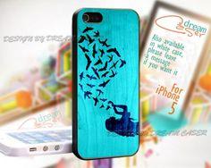 Girl Love Bird - Print On Hard Case iPhone 5 Case