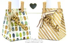 Watercolour Wash Wooden Tagged Bag Tutorial