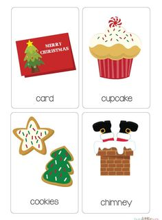 Christmas Vocabulary Cards - super cute vocab cards for your early readers this Christmas! #busylittlebugs #christmas #teacherspayteachers #vocab