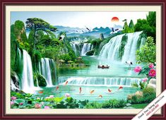 Waterfall Wall Mural for your Green Background Video, Photo Background Images Hd, Studio Background Images, Landscape Background, Landscape Walls, Landscape Wallpaper, Background For Photography, Photo Backgrounds, Wedding Background