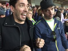 I think @mrdrewscott is enjoying the @Patriots #SuperBowl win a little too much :)