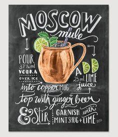 Moscow Mule Cocktail Recipe - Print
