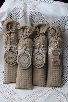 Grand sac de 100 % lavande avec médaillon bois patiné COTON au choix