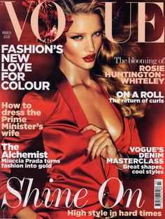 Rosie Huntington-Whiteley - March 2011 Vogue UK cover