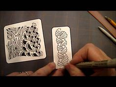 How to Draw Tangle Pattern Organic Lesson # 22