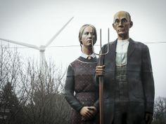'American Gothic' replica to linger at Iowa State Fair Seward Johnson, American Gothic Parody, Iowa State Fair, Marketing Jobs, God Bless America, Summer Fun, Culture, Statue, Usa Today