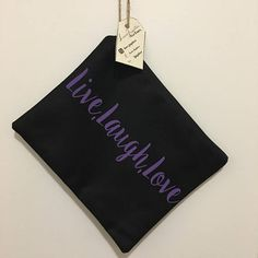Live Laugh Love makeup bag / cosmetic bag / toiletry bag