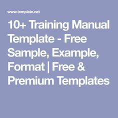 Use This Template To Create A UserS Manual Or Employee Handbook