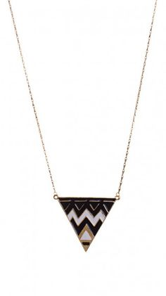 {Odette Necklace} by Thyia; love the geometric design!
