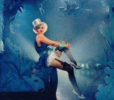 """Marilyn Monroe as Marlene Dietrich in """"Der Blaue Engel"""", 1950s"""