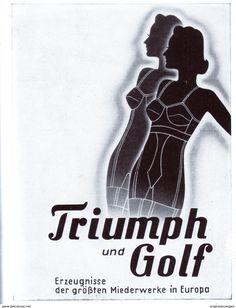 Original-Werbung/ Anzeige 1942 - TRIUMPH UND GOLF MIEDER - ca. 100 x 130 mm