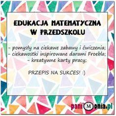 Archiwa: Do pobrania - Pani Monia Little Einsteins, Math For Kids, Diy And Crafts, Teacher, Education, Maths, Homeschooling, Game, Videos