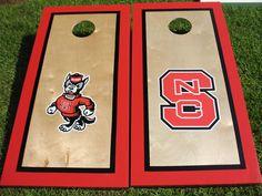NC State Custom Cornhole Boards NCSU by mtb231 on Etsy, $185.00