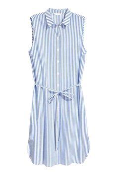 Vestido camisero - Azul/Rayas - MUJER | H&M ES