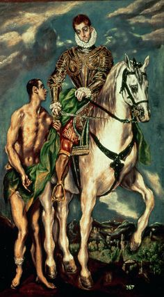 El Greco, St. Martin and the Beggar, 1597-99