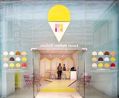 Tiny Ice Cream Shop Interior Design with Cheerful and Inviting001