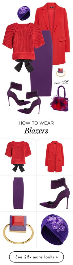 """""""Crazy Color Combos"""" by eva-kouliaridou on Polyvore featuring WearAll, RED Valentino, Gianvito Rossi and Fendi"""