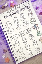 Bullet Journal Doodle Inspiration For Bujo Addicts - Crazy Laura - - Looking to decorate your bujo or need a drawing tutorial? Check out these awesome bullet journal doodle ideas next time you're setting up a new page! Doodle Bullet Journal, Bullet Journal Christmas, December Bullet Journal, Bullet Journal Hacks, Doodle Art Journals, Bullet Journal Spread, Bullet Journal Layout, Bullet Journal Decoration, Doodle Inspiration