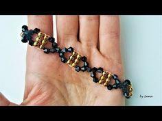 How to make beaded bracelet in 10 min. - YouTube