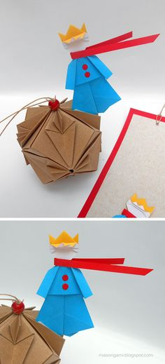 mas origami el principito en versi n origami papier origami pliage collage pinterest. Black Bedroom Furniture Sets. Home Design Ideas
