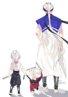 Inu Taisho, Sesshomaru and Inuyasha Inuyasha Funny, Inuyasha Fan Art, Inuyasha Love, Pokemon Comics, Manga Comics, Anime Amor, Manga Anime, Sailor Mars, Sailor Venus