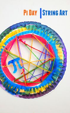 Pi Day String Art- Simple and beautiful art and math activity to celebrate Pi Day Holiday