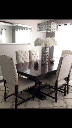 30 Simply And Elegant Dining Room dining room design 30 Simply And Elegant Dining Room - Home Design Dining Room Sets, Dinning Room Tables, Elegant Dining Room, Dining Room Design, Dining Room Furniture, Furniture Design, Dining Chairs, Side Chairs, Modern Furniture