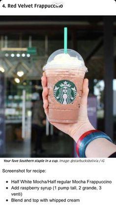 Starbucks Hidden Menu, Starbucks Hacks, Starbucks Secret Menu Drinks, How To Order Starbucks, Starbucks Recipes, Starbucks Frappuccino, Starbucks Coffee, I Love Coffee, Coffee Coffee