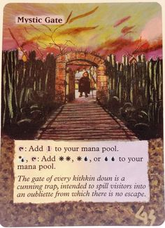 MTG Altered Art Mystic Gate Hand Painted Full Art OOAK Magic Card Glendora_Alter #WizardsoftheCoast  I Love This  :~)