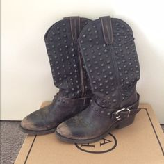 Ash Italia Studded Boots New With Box. Will accept reasonable offers. Ash Shoes