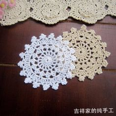 Wholesale cheap mats & pads online, round - Find best free shipping 30pic/lot round crochet lace felt fabric doilies crochet coasters zakka vintage props pot holders placemats felt at discount prices from Chinese mats & pads supplier on DHgate.com.