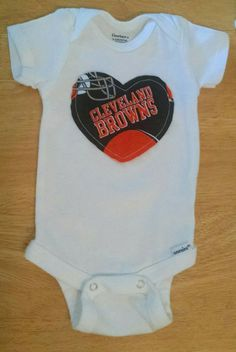 Cleveland Browns Football Baby and Toddler Onesie or Shirt by AweBeeDesigns on Etsy