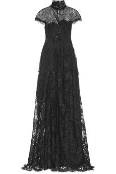 Marchesa Chantilly lace gown | NET-A-PORTER