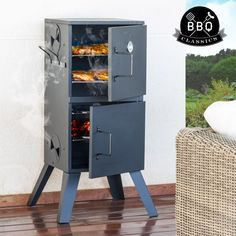 We present to you the BBQ Classics Vertical charcoal barbecue smoker perfect for your next party! Bbq, Barbecue Smoker, Barbacoa, Charcoal Smoker, Kitchen Gifts, Smart Tv, Locker Storage, Home And Garden, Kitchen Appliances