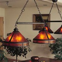 "Mica Lamp Company 136MI-01 6 Light smith Mission Billiard Pool Table Light, Dark Copper - Lighting Universe  $2160 Mica shade. 6 60 watt incand. 120 volt. 20"" wide shade. BILLIARD."