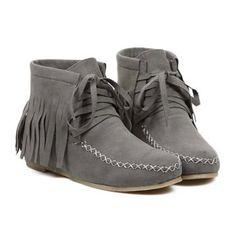 $42.44 Sweet Flock and Fringe Design Women's Short Boots