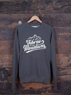 589ff64a5 Take Me To The Mountains jumper – The Level Collective – hand  screen-printed in Sheffield, UK onto our ethically made Organic cotton  jumpers