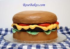 How to Make a Cheeseburger Cake plus my Durable Butter Cake Recipe (doctored cake mix)... click over for all the details, the recipe and more pics!