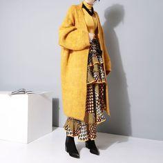 2016 Winter Cardigan loose V-collar Long Sleeves Wool Sweaters Women Jackets New Coat