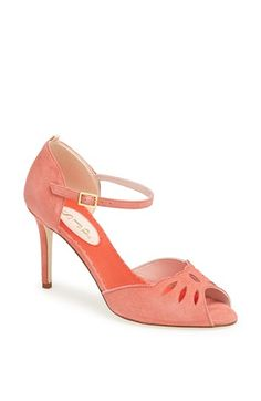 I have an obsession with shoes that have this style of cut! Color would make an outfit pop.  Very elegant! #SWEEPSENTRY