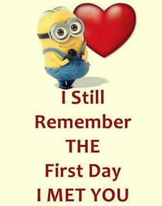Minion Quotes Even though it was over 19 years ago... I still do and always will remember the day I met the love of my life and soul mate.