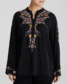 Johnny Was Collection Plus Boston Embroidered Tunic